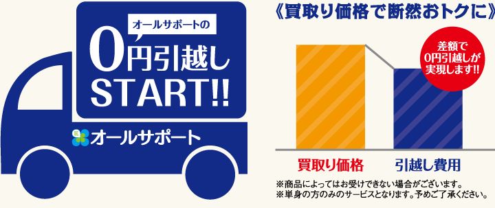 オールサポートの0円引越しSTART!!