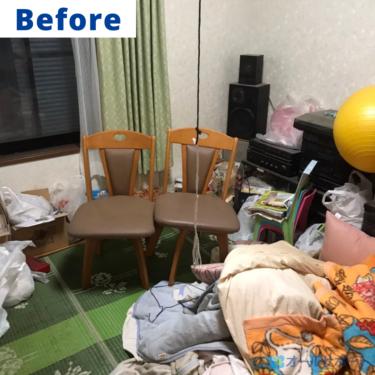 尼崎市で引越し後のお片付けのご依頼で不用品回収と梱包作業させて頂きました【料金記載】