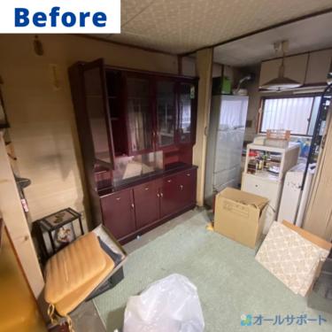 東淀川区にて解体に伴う不用品のお片付けのご依頼頂きました【料金記載】