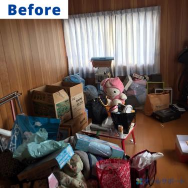 川西市にてご実家の大量のお荷物の処分のご依頼で不用品回収とお片付けをさせて頂きました【料金記載】