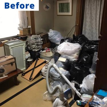 尼崎市で一軒家から出た不用品の回収ご依頼頂きました【料金記載】